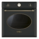 Cuptor incorporabil electric Smeg Colonial SF855AO, 60 cm, antracit, retro, Vapor Clean
