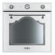 Cuptor incorporabil electric Smeg Cortina SF750BS, retro, alb cu estetica argintie, Vapor Clean