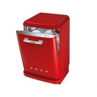 Masina de spalat vase retro Smeg BLV2R-2, rosu, clasa A+++, 9 programe