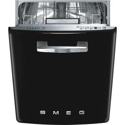 Masina de spalat vase retro incorporabila Smeg ST2FABBL, 60 cm, clasa A+++, negru