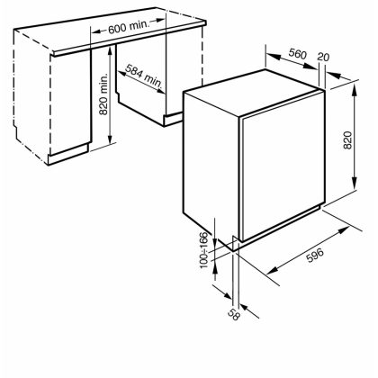 Masina de spalat rufe incorporabila Smeg LST147, clasa A+, 7 kg, 15 programe