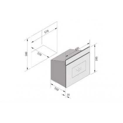 Cuptor incorporabil electric Pyramis 60IN 6080, negru, 60 l, touch control, 11 functii
