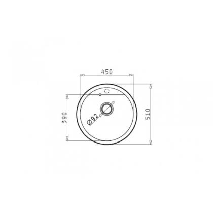 Chiuveta de bucatarie Pyramis Cercio 1B Dark Beige, Ø 48.5, granit + baterie bucatarie cadou