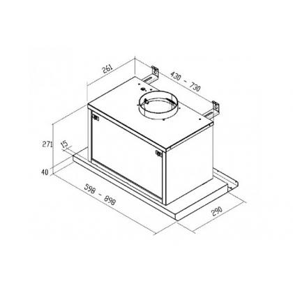 Hota incorporabila Pyramis Design MAGNIFICA TLC, 60 cm, inox