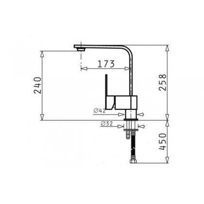 Baterie de bucatarie Pyramis Espressivo, crom