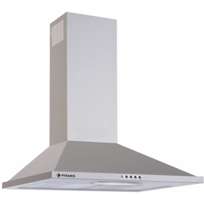 Hota semineu Pyramis Square Chimney Slim, 60 cm, inox