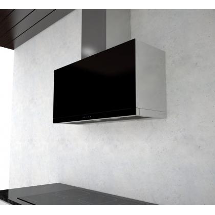 Hota de perete telescopica Pyramis Design Refleto Sliding, 90cm, sticla neagra