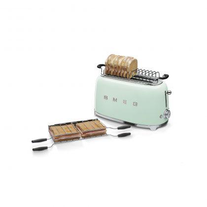 Prajitor de paine Smeg TSF01PGEU, 950 W, verde, retro