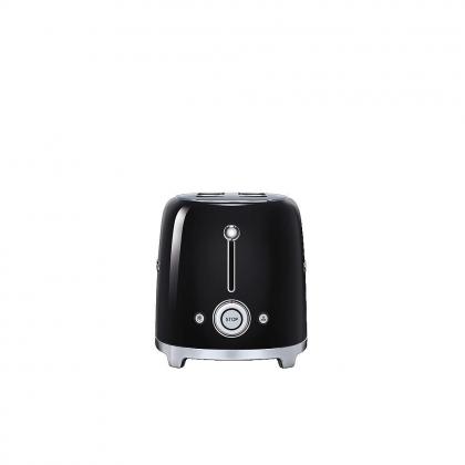 Prajitor de paine Smeg TSF02BLEU, 1500 W, negru, retro, 4 felii