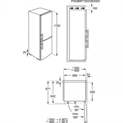 Combina frigorifica statica Electrolux EN3201MOW, 60 cm, clasa A++, alb