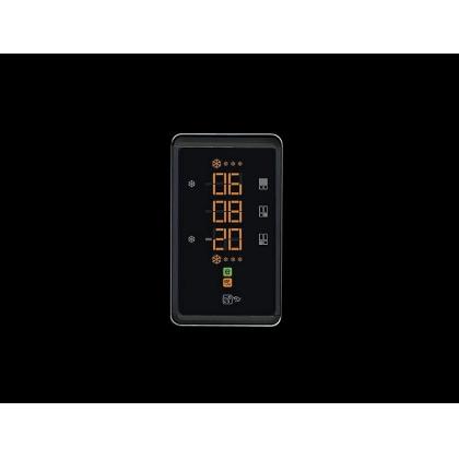 Frigider Side by Side cu 4 usi Smeg FQ60NPE, 90 cm, negru lucios, No Frost, clasa A+