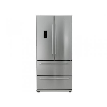 frigider cu 4 usi smeg fq55fxe1 84 cm inox no frost clasa a pentru acasa. Black Bedroom Furniture Sets. Home Design Ideas