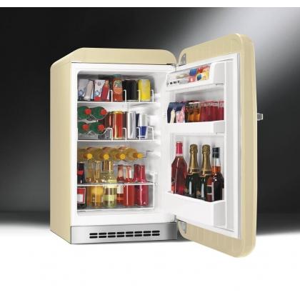 Minibar retro pentru bauturi Smeg FAB10HRP, crem