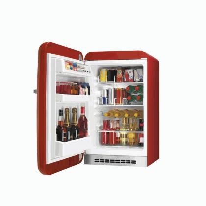 Minibar retro pentru bauturi Smeg FAB10HLR, rosu