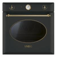 Cuptor incorporabil electric Smeg Colonial SF855A, 60 cm, antracit, retro, Vapor Clean
