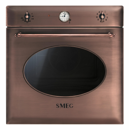 Cuptor incorporabil electric Smeg Colonial SF855RA, 60 cm, cupru, retro, Vapor Clean