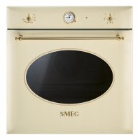 Cuptor incorporabil electric Smeg Colonial SF850P, crem, 60 cm, retro