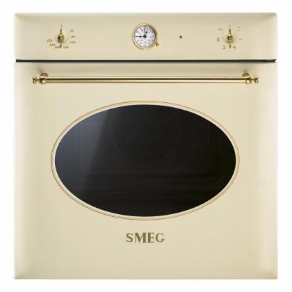 Cuptor incorporabil electric Smeg Colonial SF850P, crem, 60 cm, retro