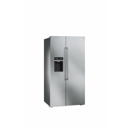 Frigider Side by Side Smeg SBS63XED, 90 cm, inox, No Frost, clasa A+, Ice Maker