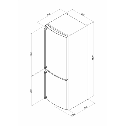 Combina frigorifica retro Smeg FA860P, 60 cm, crem, clasa A+, No Frost