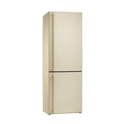 Combina frigorifica retro Smeg FA860P, 60 cm, crem, manere aurii, clasa A+, No Frost