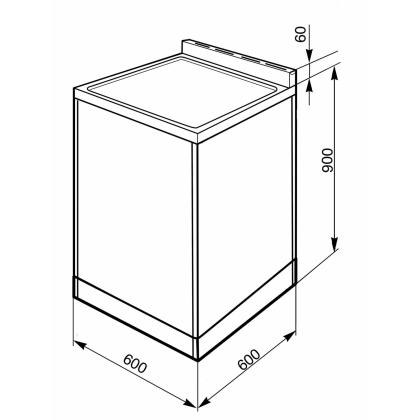 Aragaz cu plita vitroceramica Smeg SUK62CMX8, inox, 60 cm, 2 cuptoare