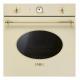 Cuptor incorporabil electric Smeg Colonial SF800P, crem cu estetica aurie, 60 cm, retro