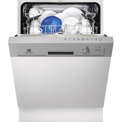 Masina de spalat vase partial incorporabila Electrolux ESI5201LOX, 60 cm, inox, 5 programe, clasa A+