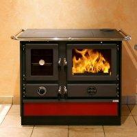 Soba pentru incalzit si gatit pe lemne MBS SUPER THERMO MAGNUM, Bordeaux, 21 kW, boiler 19 l