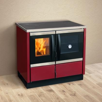 Soba pentru incalzit si gatit pe lemne MBS THERMO ROCKY, Bordeaux, 25 kW, boiler 22 l