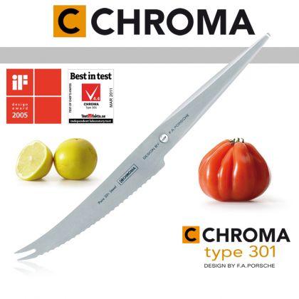 Cutit pentru tomate si branza Type 301 by F.A. Porsche CHROMA P-10, 12 cm, inox 18/10