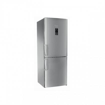 Combina frigorifica No Frost Hotpoint Ariston ENBGH 19423 FW, 70 cm, inox, display