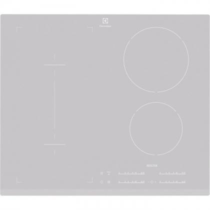 Plita incorporabila inductie Electrolux EHI6540FOS, 60 cm, Booster, Silver, functie Bridge