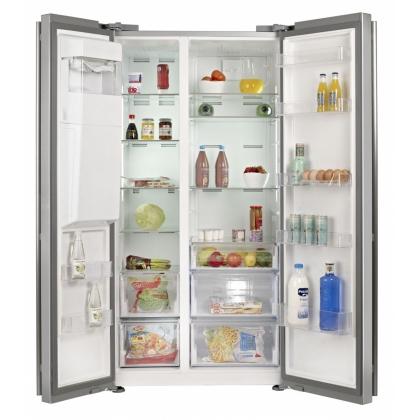 Combina frigorifica Side by Side Teka NFE3 650 X, Full No Frost, 90 cm, inox, clasa A+, dozator apa/gheata
