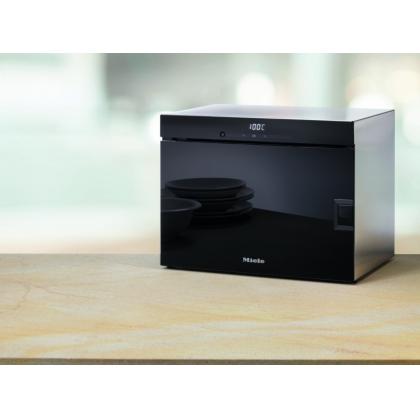 Cuptor cu aburi compact Miele DG 6010, 50 cm latime, negru, touch control, deschidere laterala