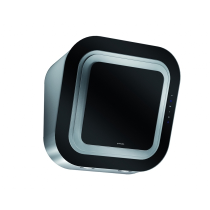 Hota de perete Pyramis Design AFFIORO Black, 60 cm, touch control, absorbtie perimetrala